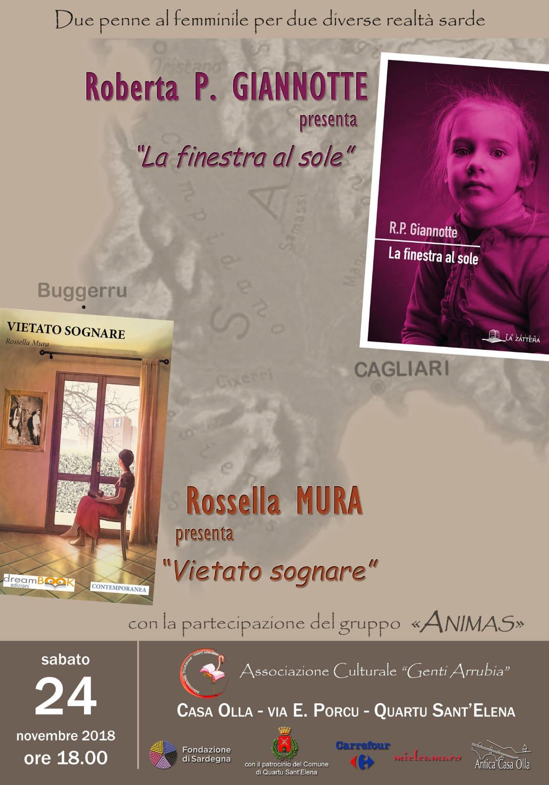"""Presentazione del libro """"Vietato sognare"""" di Rossella Mura"""