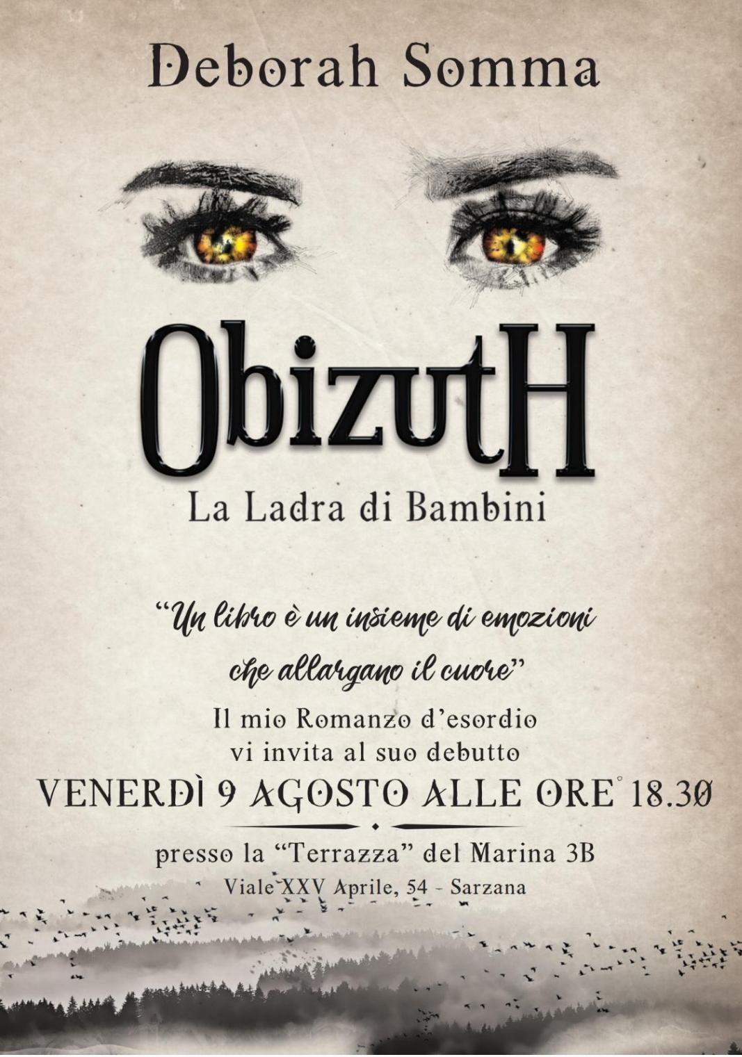 """Presentazione romanzo """"Obizuth – La Ladra di Bambini"""""""